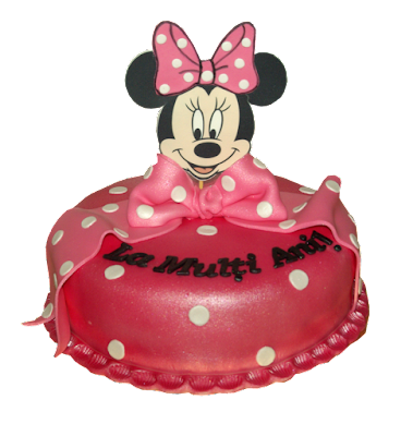 Tort botez Minnie Mouse creat de Luxury Cakes Brasov