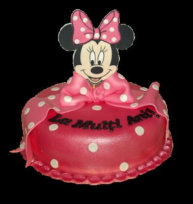 Tort botez Minnie Mouse creat de Luxury Cakes Brasov
