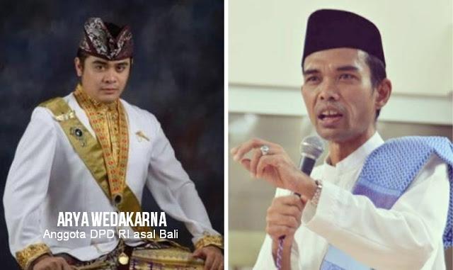 """Ditolak Anggota DPD Asal Bali, Safari Dakwah Ustadz Abdul Somad di Bali """"Dibackup"""" Kodam Udayana"""