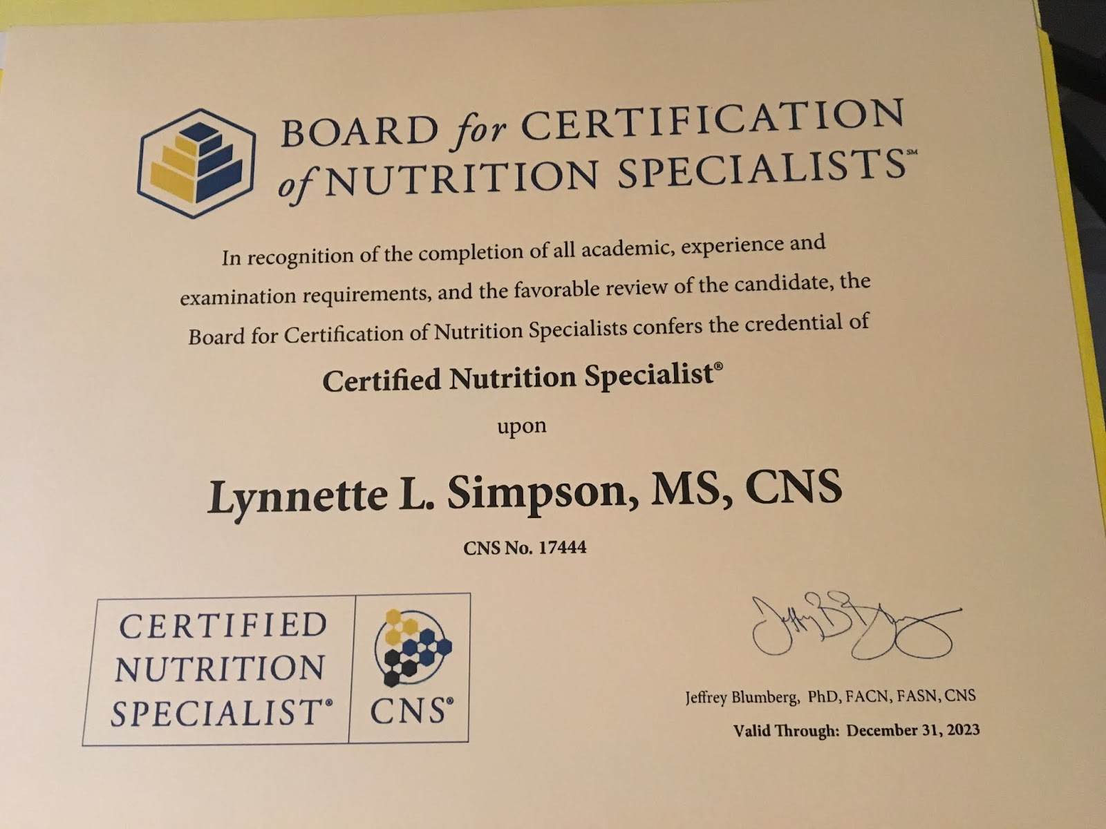 Running In Dc Certified Nutrition Specialist