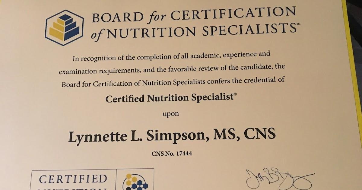Running In Dc Certified Nutrition Specialist