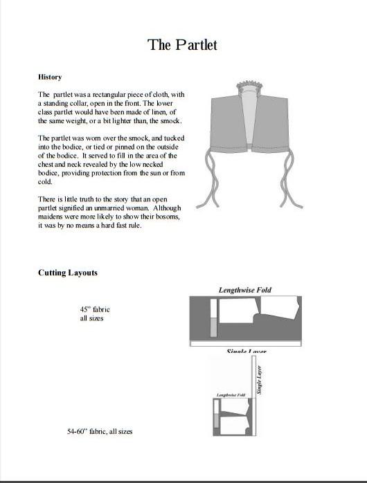 Patrones de disfraces para coser, historicos
