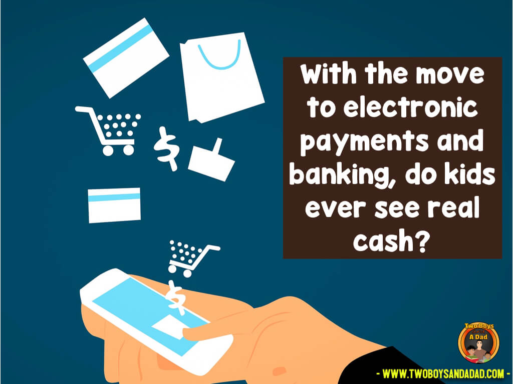More people are going cashless and using electronic forms of payment