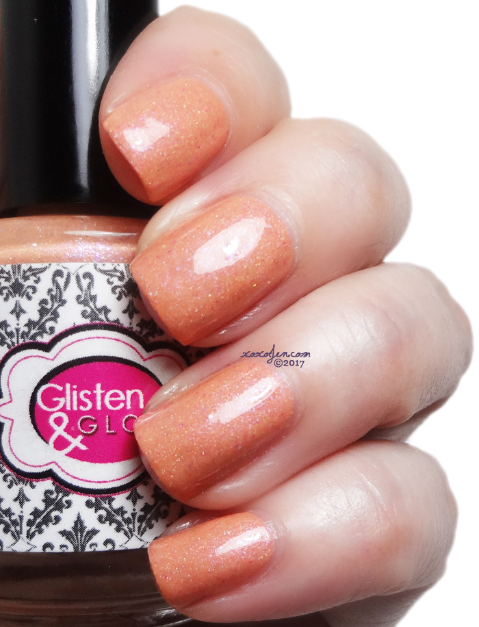 xoxoJen's swatch of Glisten and Glow Life's a Beach, When You're a Peach