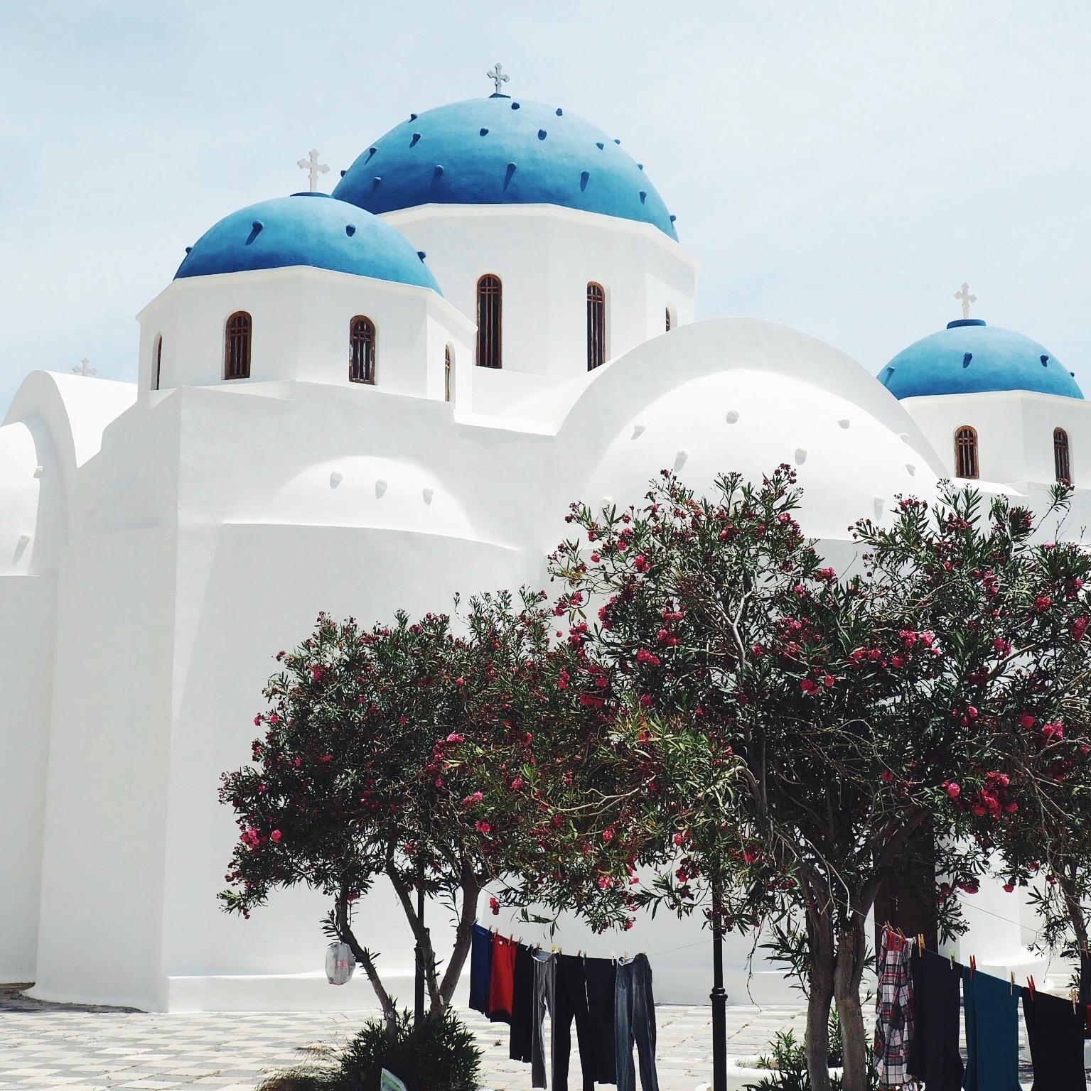 Postcards from Perissa, Santorini