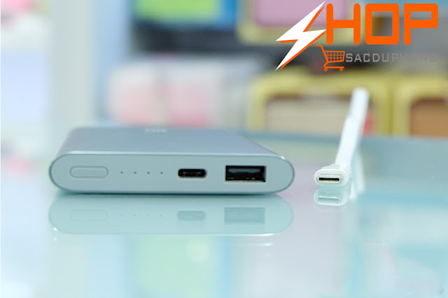 PIN SẠC DỰ PHÒNG XIAOMI 10000 MAH (MÀU XÁM) USB TYPE C PHIÊN BẢN 2016