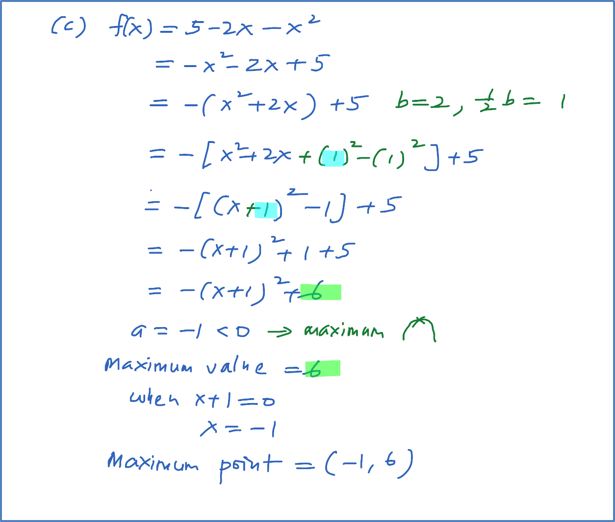 How To Find The Minimum And Maximum Value Of A Quadratic