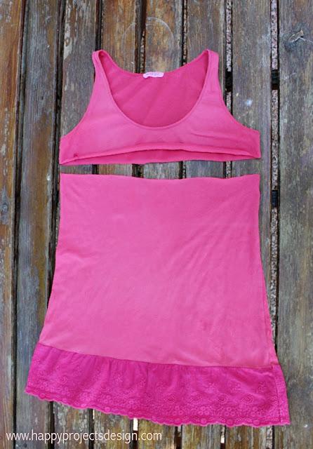 DIY de camiseta a vestido