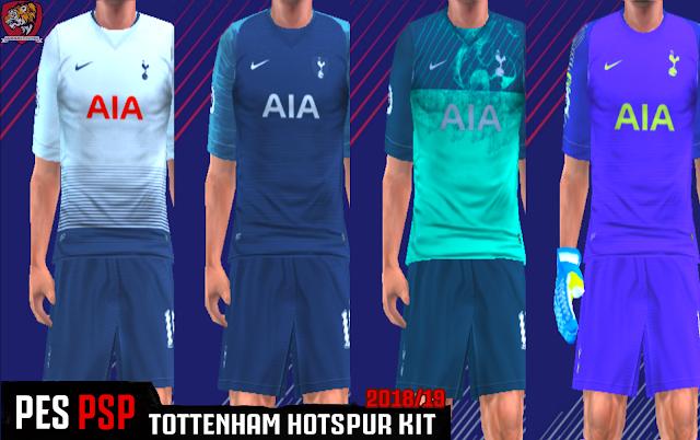 wholesale dealer 2f2fe fb2da Tottenham Hotspur 18/19 Kits - PES PSP (PPSSPP)