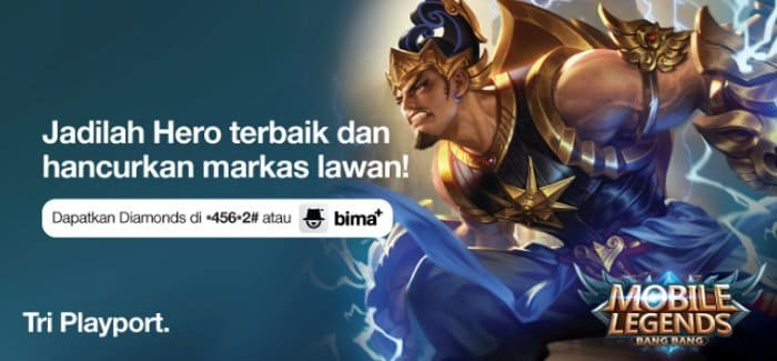 Kelebihan Beli Diamonds Mobile Legends Di Tri Via Potong Pulsa