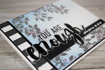 Handmade card, created with Fun Stampers Journey products.  Combining stamp sets is fun, and easy - mix and match to create your own unique background and sentiment!