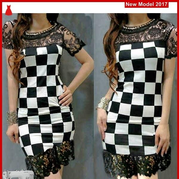 MSF0036 Model Dress Brukat Murah Catur Vanda BMG