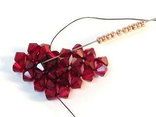 Beaded Heart Pendant Tutorial great for Valentine's Day by The Bead Club Lounge