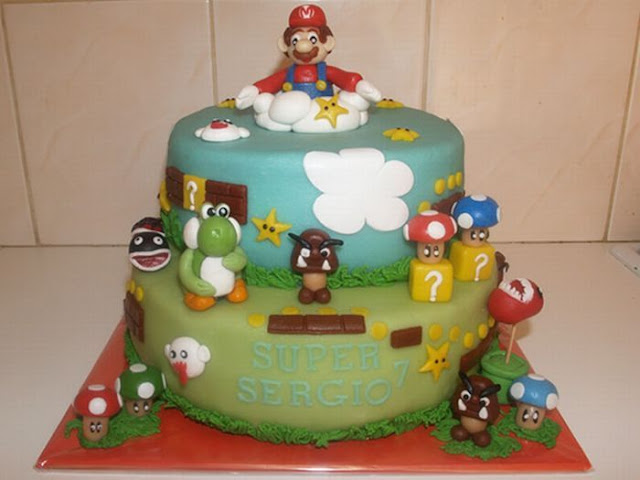 Bolos decorados Super Mario Bros