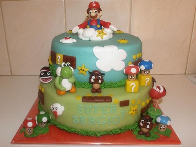 Bolos decorados Super Mario Bros