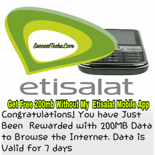 How To Get Etisalat Free 200mb Without Downloading My Etisalat App