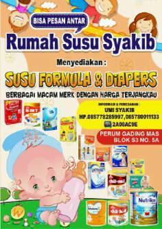 Rumah Susu Syakib Karawang Bisa Pesan Antar Susu Formula dan Diapers