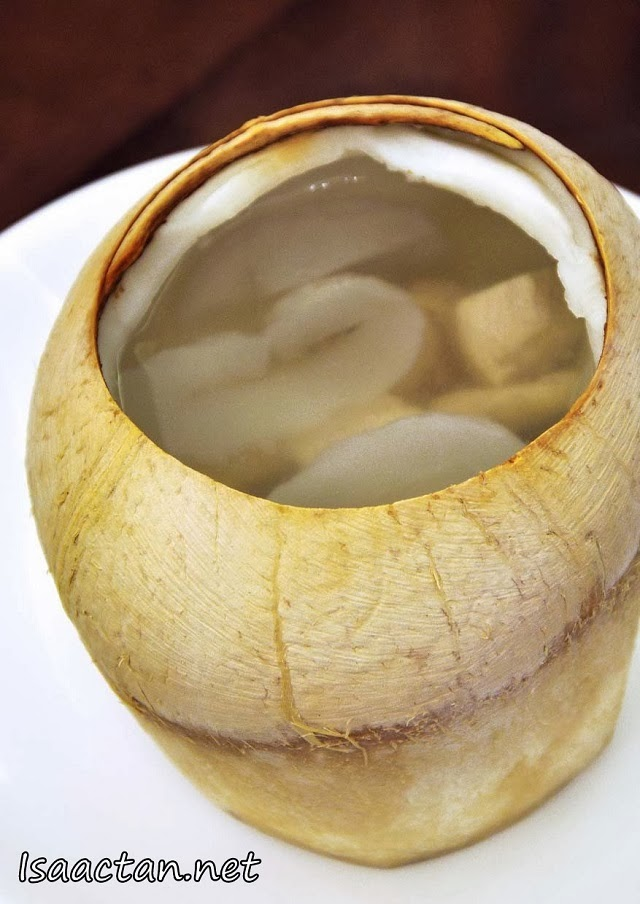 Double-boiled Chicken Soup in Coconut