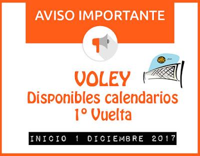 VOLEY: DISPONIBLE CALENDARIO DE LA 1º VUELTA