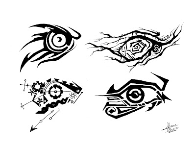 Schane Clark's Art Blog: Andrew's Tattoo Development