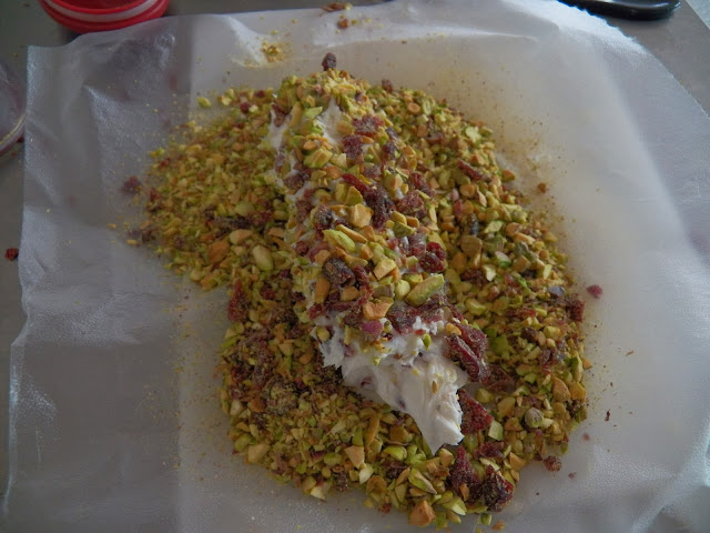 Pistachio and Craisin Cheese Ball