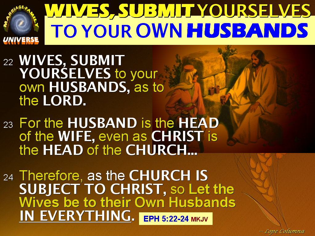 the marriage and family universe the true meaning of ephesians 5 22