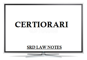 certiorari india