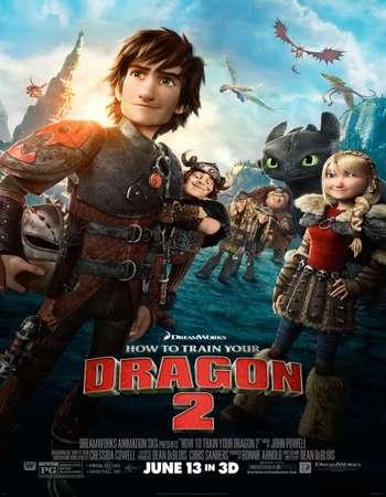 How to Train Your Dragon 2 2014 Hindi Dual Audio 450MB BluRay 720p ESubs HEVC