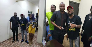 Davido And His Girlfriend, Chioma Visit Super Cop, Abba Kyari (Photos)