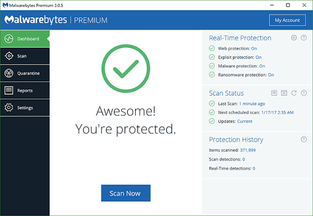 Malwarebytes Anti-Malware Features