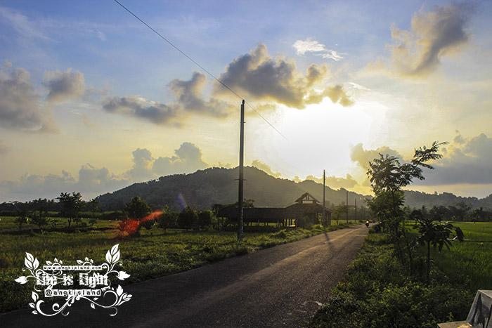sunset gedang