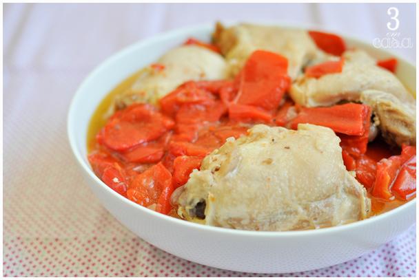 receita fácil frango pimentão