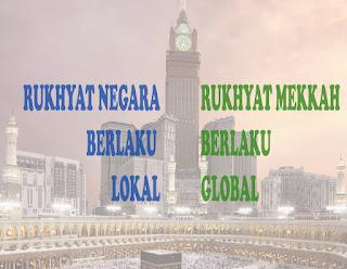 Rukyat Negara Berlaku Lokal, Rukhyat Mekkah Berlaku Global