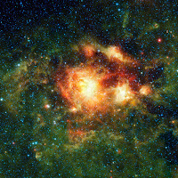 Stellar Storm of Infrared Light
