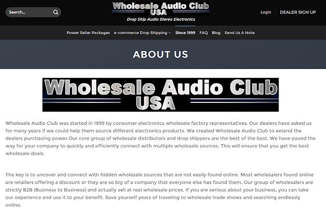 WHOLESALE AUDIO CLUB USA