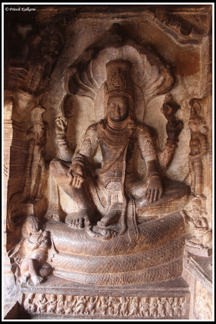 Vishnu seated on Serpent Sesha
