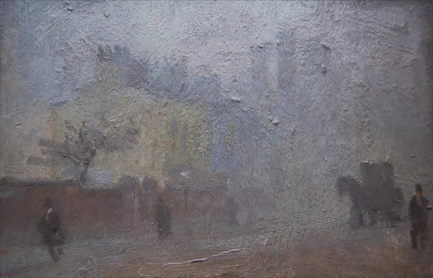 Adolphe  Valette  Manchester  Street  in  Fog