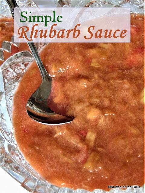 Simple Rhubarb Sauce in serving bowl.