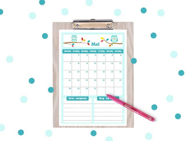gratis mei 2018 kalender, kalender zelf printen, ik zoek een leuke kalender, kalender printable kopen, kalender om te printen, kalender voor kinderen, aftelkalender, kalender om af te tellen, lieve kalender, bujo kalender mei, mei bujo, bujo, stoere kalender, kalender gratis printen