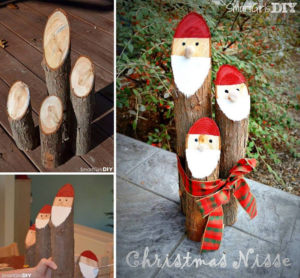 Helping Kids Grow Up How To Make Adorable Santa Log