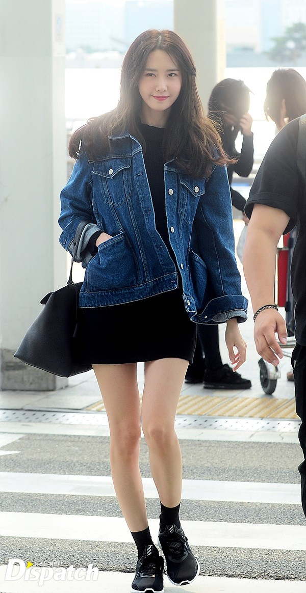 snsd yoona charms in her comfy airport fashion daily k
