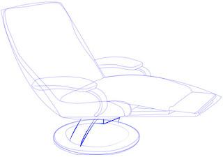 Cara simpel menggambar Recliner (Sofa)