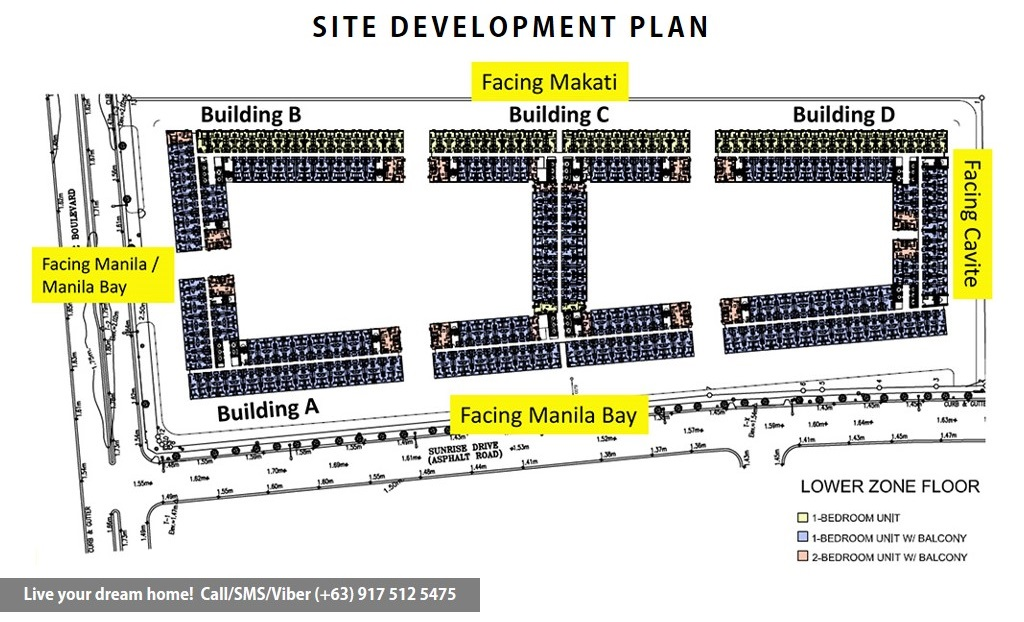 Site Development Plan | SMDC Shore Residences - 1 Bedroom With Garden | Condominium for Sale SM Mall of Asia Pasay