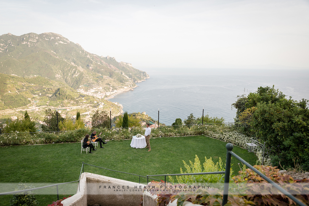 Wedding ceremony Belmond Caruso