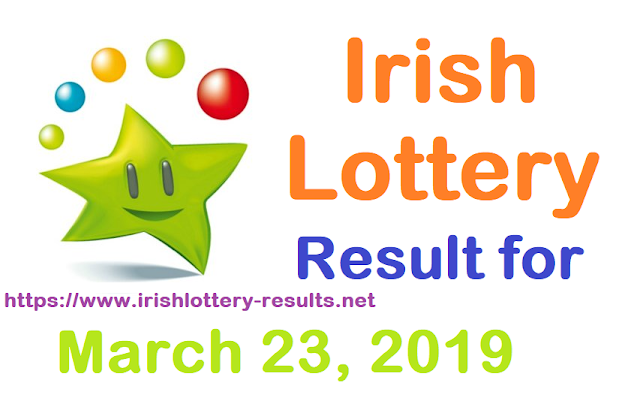 Irish Lottery Results for Saturday, 23 March 2019