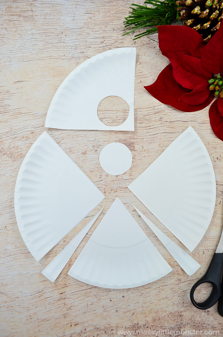 paper plate angel craft for preschoolers