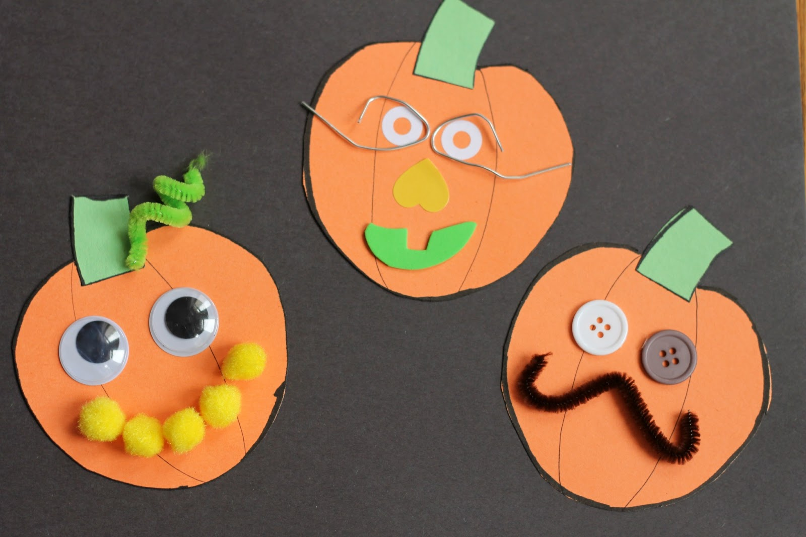 Jack O Lantern Collages Preschool Craft Reading Confetti