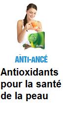 antioxydants pour un teint pour la peau éclatante plus sain et naturel.