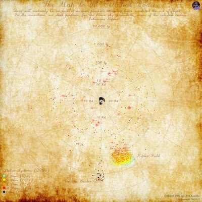A Map to the Celestial Bodies: un mapa con los exoplanetas de Kepler