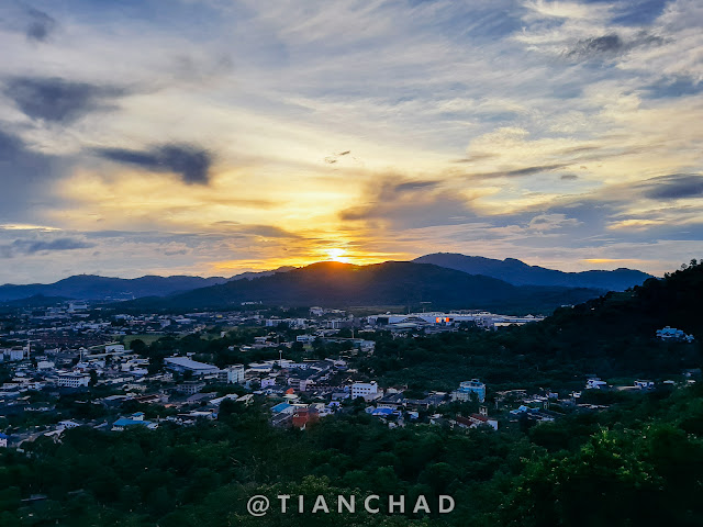 Sunset from Phuket hill top Photo captured using Samsung Galaxy A7 (2018) Ultra Wide Angle camera